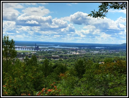Looking west from the Superior Hiking Trail.