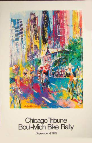 POSTER - CHICAGO - BOUL-MICH BIKE RALLY - 1978