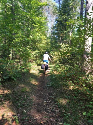 Single track section .